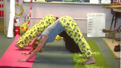Downward Dogs with matching Sponge Bob pants